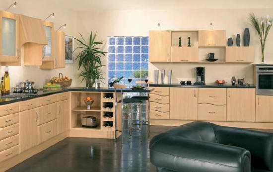 Solid Beech Wood Kitchen Doors