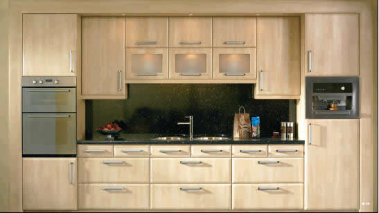 slab canadian maple kitchen - Canadian Made Kitchen Cabinets